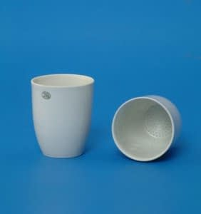 Crisol de porcelana 10 ml con tapa importado