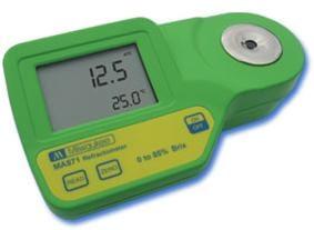 Refractómetro digital Milwakee MA871 en grados Brix de sacarosa