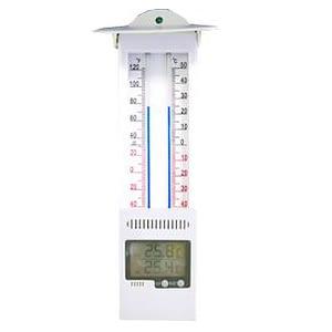 Termómetro digital Max/Min Alla France con techo y pantalla digital