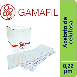 Membrana ACETATO DE CELULOSA 0.22 um 47mm blancas lisas x 100 ud Gamafil