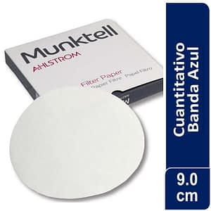 Papel de filtro cuantitativo 00H Banda Azul Filtración Lenta 9.00 cm 100 ud Munktell