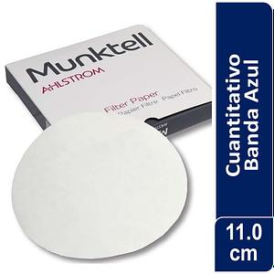 Papel de filtro cuantitativo 00H Banda Azul Filtración Lenta11.00 cm 100 ud Munktell