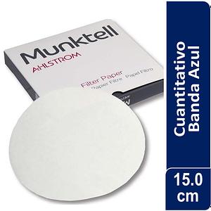 Papel de filtro 00H Banda Azul filtración Lenta 100 ud Munktell