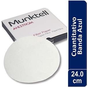 Papel de filtro cuantitativo 00H Banda Azul Filtración Lenta24.00 cm 100 ud Munktell