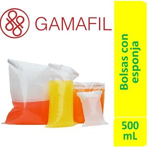 Bolsas para digestor de 500 mL de 14 x 25 cm. con esponja, esteriles espesor 100µm Gamafil