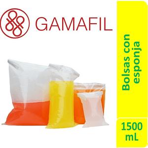 Bolsas para digestor 1500 ml. 18 x 32 cm, con ESPONJA para controlar superficies 100um 100 ud Gamafil