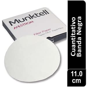 Papel de filtro cuantitativo 00R Banda Negra Filtracion rápida 11.00 cm 100 ud Munktell
