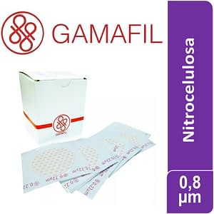 Membranas NITROCELULOSA 47mm diam 0.8 micrones no estériles x 100 ud Gamafil