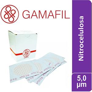 Membranas NITROCELULOSA. blancas lisas, no estériles de 5,00 um – 47 mm x 100 ud Gamafil