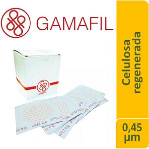 Membrana Celulosa Regenerada blancas lisas no estériles de 0.45 um 47 mm 100 ud Gamafil