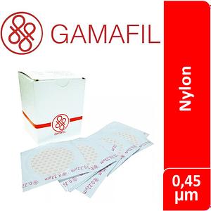 Membrana filtrante NYLON 0.45 um 25 mm diam 100 ud Gamafil