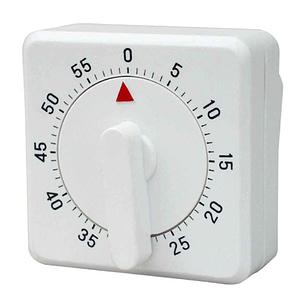Timer mecanico 60 minutos cuadrado importado