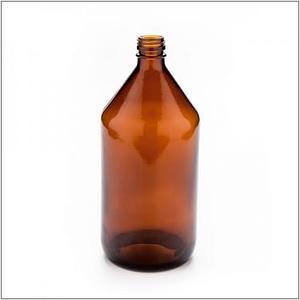 Botella vidrio color caramelo tapa rosca 1 L de capacidad