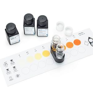 Test Cloro y pH (cloro libre. DPD) colorimétrico 0.10 -1.5 mg/l Cl2 pH: 6.5-7.9 Mcolortest 150 tests Merck
