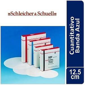 Papel de filtro cuantitativo. filtrado lento, Nº 589-3 Banda Azul x 100 hojas, 125 mm Ø SCHLEICHER & SCHUELL