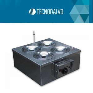 Baño termostático con aros concéntricos 4 bocas 130 mm diámetro Tecnodalvo