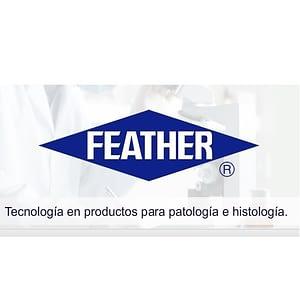 Hojas de acero escartables para microtomo S-35 L 50 unidades Feather