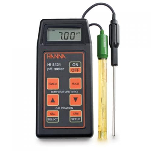 pHmetro portátil HI8424 con ATC Hanna Instruments