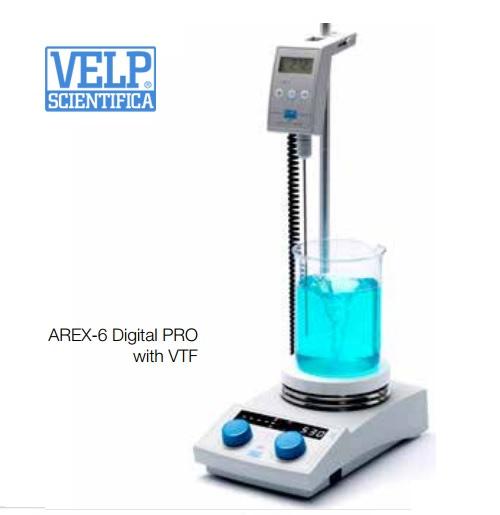 Agitador magnetico AREX Digital Pro con Vertex VTF Velp Scientifica
