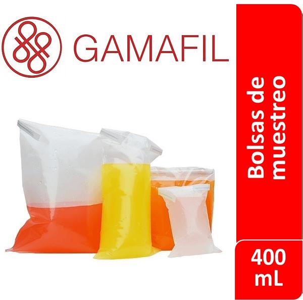 Bolsas para muestreo esteriles 400 ml 100 ud Gamafil
