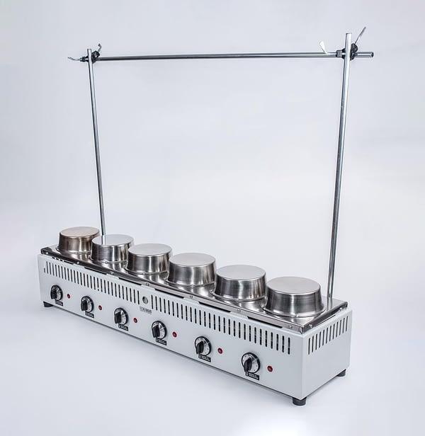 """Bateria """"VARI HEAT"""" (SOXHLET-TWISSELMANN ) de extracción 6 det. Tecnodalvo (no incluye material de vidrio)"""